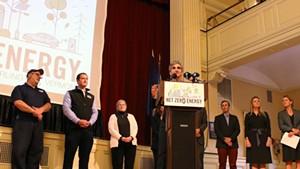Mayor Miro Weinberger presents the Net Zero Energy Roadmap