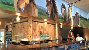 The bar at Stone Corral Brewery