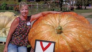Lisa Gates at Sam Mazza's Giant Pumpkin Weigh-In