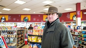 R.L. Vallee CEO Skip Vallee inside a Maplefields convenience store in Colchester