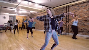 Emma Manion leading a rehearsal at Zenith Fitness and Movement