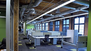 The Mi9 offices in the Champlain Mill on Monday
