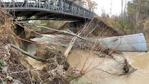 The bridge over Muddy Brook