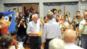 Sen. Bernie Sanders last month in New Hampshire