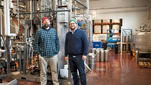Matt Wilson (left) and Kris Nelson at Zero Gravity Craft Brewery