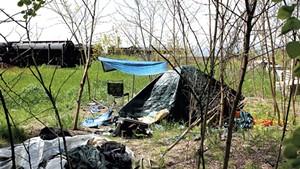A camp off the bike path