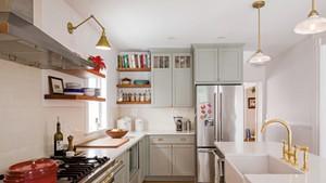 The renovated kitchen in Becca Brown McKnight's Burlington home