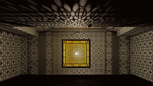 """Hidden Diamond-Saffron"" by Anila Quayyam Agha"
