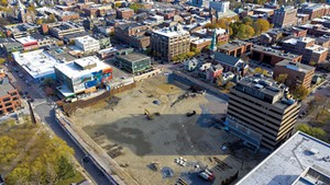 CityPlace Burlington construction site, pictured last fall