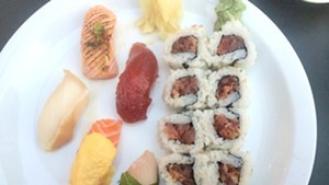 Special sushi sampler at San Sai Japanese Restaurant