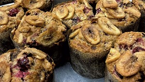 Muffins at Otter Creek Bakery in Middlebury