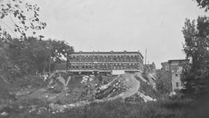 The ravine along Main Street in Burlington, circa 1891 to 1901
