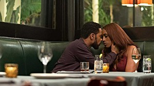 PICTURE PERFECT Stanfield and Rae make a glamorous pair in Meghie's multigenerational romance.