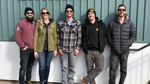 The Riot Squad, from left: Matt Farkas, Christie Farkas, Matt Small, Jacob Shane, Sam Tolstoi