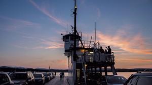 Aboard a Lake Champlain Transportation ferry
