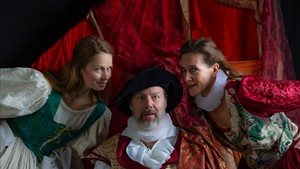 From left: Sorsha Anderson, John Nagle and Chloe Fidler in The Merry Wives of Windsor