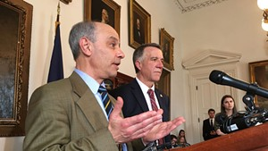 Finance Commissioner Adam Greshin and Gov. Phil Scott