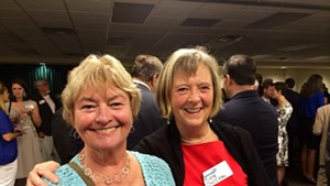 Reps. Johannah Donovan (left) and Mary Sullivan