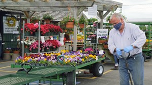 Chris Conant, co-owner of Claussen's Florist, Greenhouse & Perennial Farm