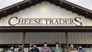 Cheese & Wine Traders team members wearing masks