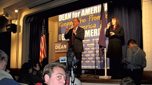 Heath Eiden filming Howard Dean in 2004