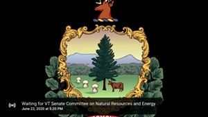 An image displayed of a failed upload of a Senate Committee on Natural Resources meeting