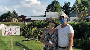 Helen Weston and Mike Isham of Isham Family Farm