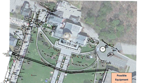 Proposed ice-skating rink for Statehouse lawn.