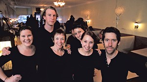 From left: Cori Conchieri, Grayson Crounse, Martha Snyder, Marya Vallejos, Hannah Sorkow and Peter Hedin
