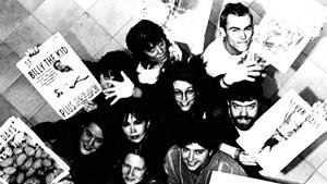 Original Seven Days staffers surround Pamela Polston and Paula Routly. Clockwise from top: Lars-Erik Fisk, Rick Woods, Clove Tsindle, Samantha Hunt, Maggie Starvish, Barbara Peabody and Kathy Erikson.