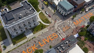 Volunteers Paint 'Black Lives Matter' on Main Street