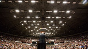Sen. Bernie Sanders campaigns in July in Madison, Wisconsin