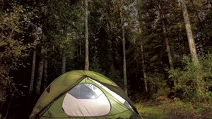 Camping by the Canadian border