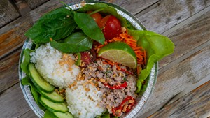 Pork larb from the Craftsbury General Store