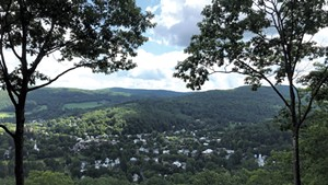Woodstock from the summit of Mount Tom