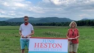 June Heston with her son, Keegan