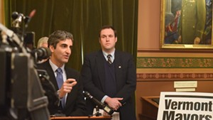 Burlington Mayor Miro Weinberger speaks earlier this month at the Statehouse.