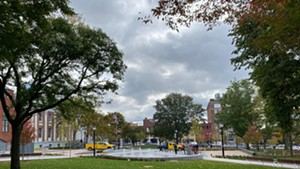 Looking at the park from College Street