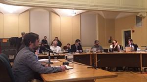 Redstone partner Erik Hoekstra addresses the city council last week.