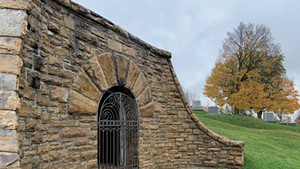Receiving vault at Prospect Cemetery in Vergennes
