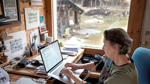 Annette Smith in her home office