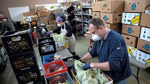 Packing food at Feeding Chittenden in April