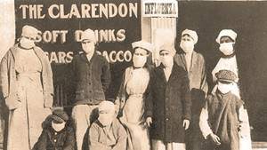 Scene from the 1918 pandemic