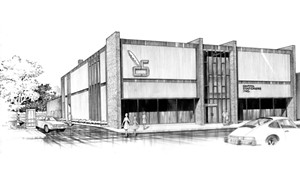 Donald McKnight drawing for Capitol Stationers, 1974