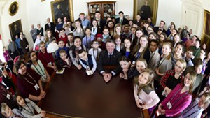 Good Citizens with Gov. Phil Scott at the Statehouse in March, 2019.