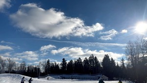 Cross-country skiing at Catamount Outdoor Center