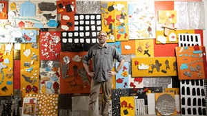 Matt Neckers with his Vermont Studio Center installation
