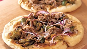 Pulled Pork Flatbreads and Maple Brussels Sprouts