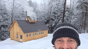 Cory Krieg and his Bethel sugar house