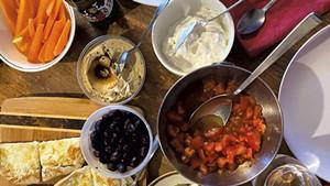 Turkish breakfast for dinner